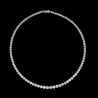 Tiffany & Co Classic Diamond Line Necklace circa 1930s