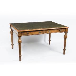 Vintage Victorian Style Walnut Writing Table Desk c.1930