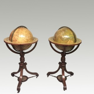 Pair of 15 inch Georgian globes by Newton 's and Berry.