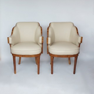 Harry and Lou Epstein Art Deco Armchairs