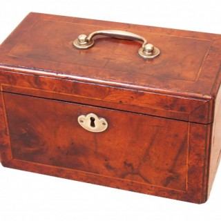 English 18th Century Walnut Tea Caddy