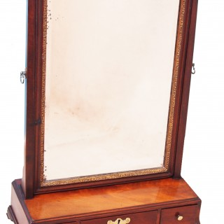 Antique 18th Century Mahogany Dressing Table Mirror