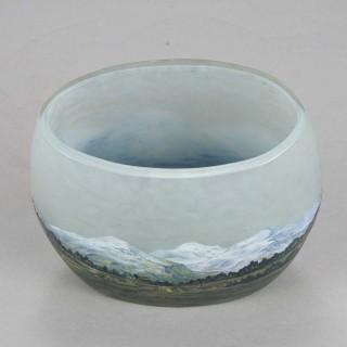 A beautiful Art Nouveau Cameo Glass 'Alpine Vase' by Daum Frères