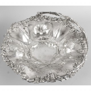 Antique Victorian Silver Plated Fruit Basket Henry Waterhouse London c.1860