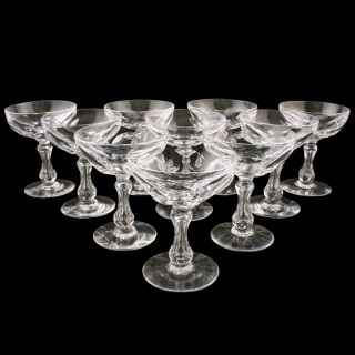 Set of Eight Edwardian Wine Glasses