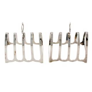 Pair of Sterling Silver Toast Racks