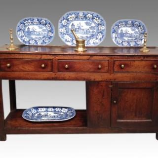 Rare Welsh oak dresser base.