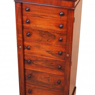 Antique Regency Rosewood Wellington Chest