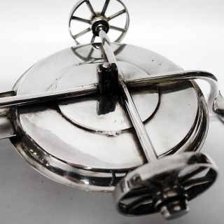 Victorian Silver Plated Decanter Wagon
