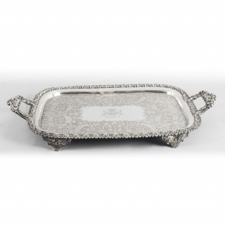 Antique George III Old Sheffield Silver Plated Tray C 1830