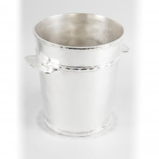 Antique Art Deco Silver Plate Ice Champagne Bucket Cooler C1930