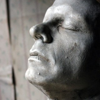 A Finely Cast Early 20thC Plaster Life Mask of a Gentleman