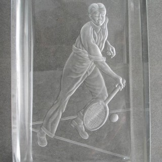 Tennis Glass Dish