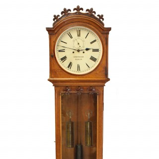 Irish Domestic Regulator Longcase clock by Dobbyn, Dublin