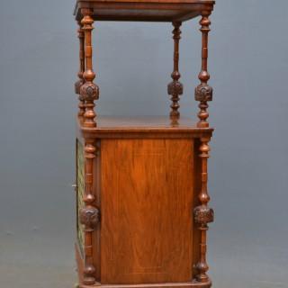 Victorian Walnut Music Stand – Etagère