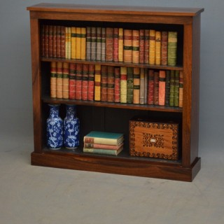Victorian Rosewood Open Bookcase