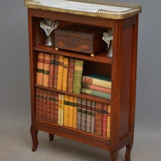 French Marble Topped Open Bookcase