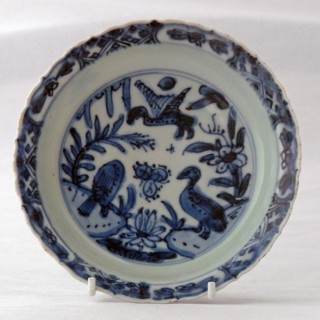 Ming 16th Century Blue and White Saucer