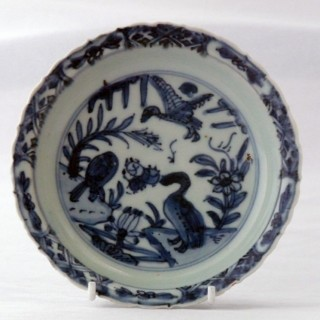 Ming - Wanli - Blue and White Saucer
