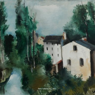 Maisons au bord de la riviere