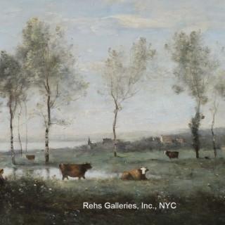 Pâturage dans les marais (Souvenir des environs d'Amiens)