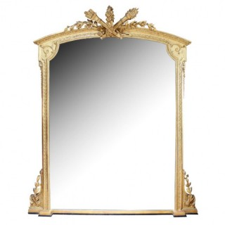 GILTWOOD AND COMPOSITE OVERMANTLE MIRROR