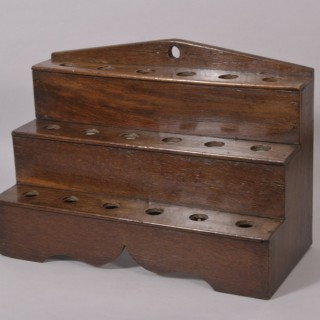 Antique Welsh 19th Century Oak Spoon Rack