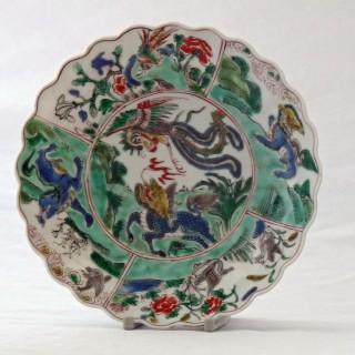 Kangxi Famille Verte Fluted Saucer