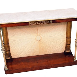Antique Regency Rosewood And Brass Console Table
