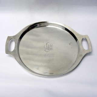 1960s Art Deco Style Silver Tray
