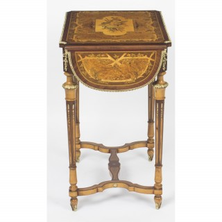 Antique French Napoleon III Revival Poudreuse Writing Table c.1860