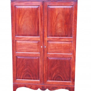 Antique 18th Century Mahogany Channel Islands Wardrobe