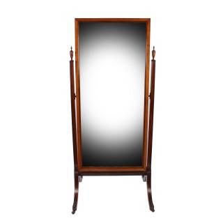 Regency Style Mahogany Cheval Mirror