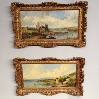 Alfred Vickers-Pair of landscapes.