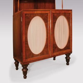 Pair Regency period rosewood 2-door Cabinets
