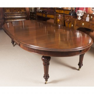 Antique 10ft Early Victorian Oval Extending Dining Table c.1850