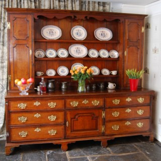 George III period large Oak Welsh Dresser