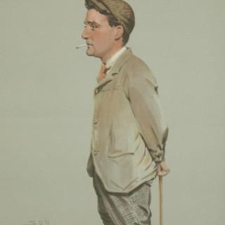 Vanity Fair Golf Print 'Horace Harold Hilton, Hoylake'.