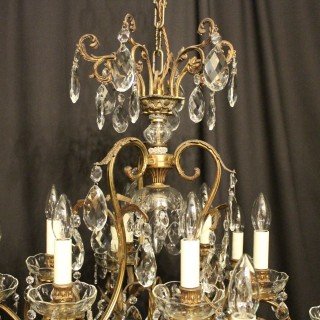 French Gilded 13 Light Antique Chandelier