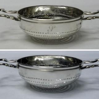 Antique Georgian Silver Lemon Strainer