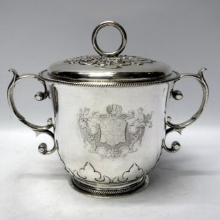 Antique Charles II Silver Porringer