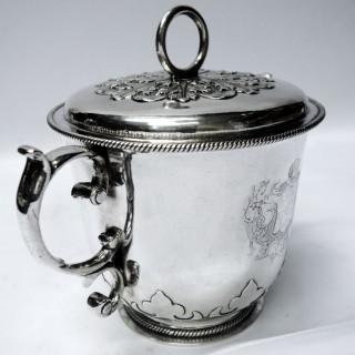 Antique Charles II Silver Porringer
