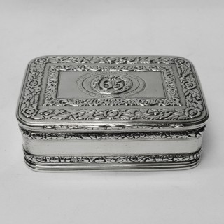 Antique Silver Table Snuff Box