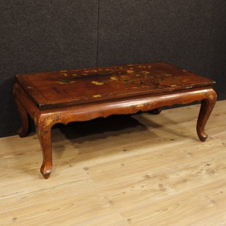 French Coffee Table In Lacquered Chinoiserie Wood From 20th Century
