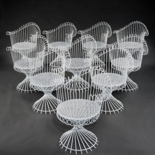 SET OF 10 ANTHEOR CHAIRS ATTRIBUTED TO MATHIEU MATEGOT