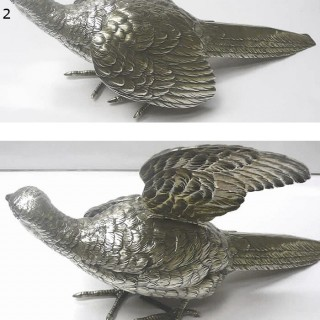 Antique Silver Table Bird