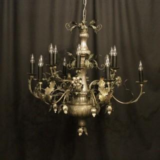 Italian Genoa 12 Light Antique Chandelier