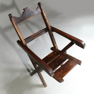 EXOTIC HARDWOOD FOLDING CHAIR