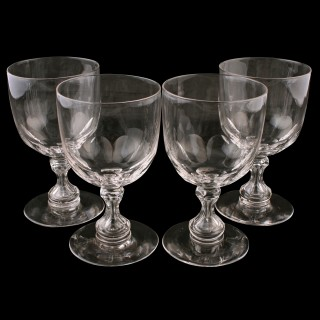 Four Victorian Glass Rummers