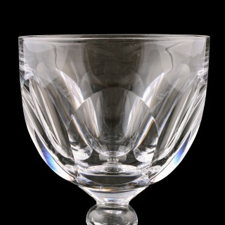 Six Edwardian Wine Glasses